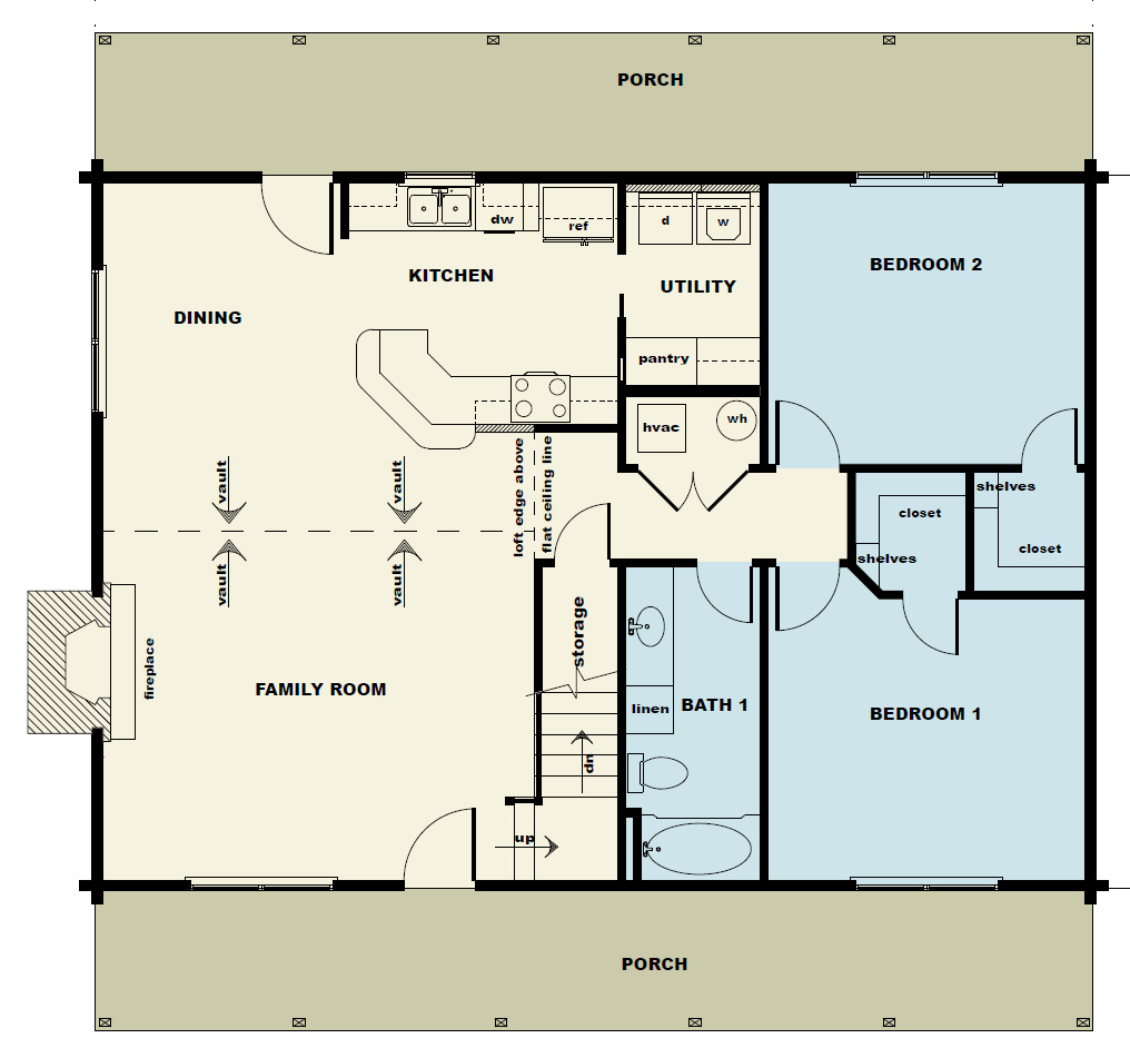 3 bedroom timber home floor plans for Timber home floor plans