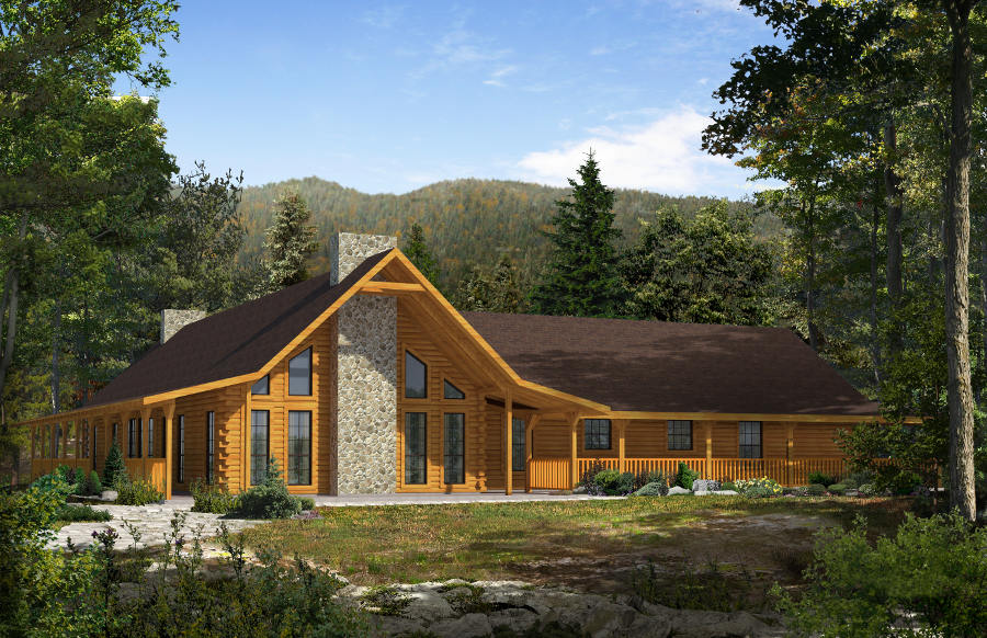 Timber And Log Home Floor Plans