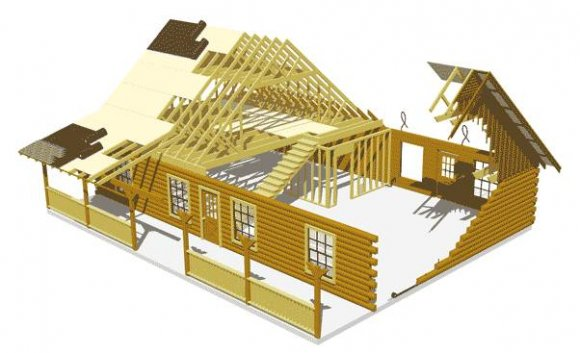 Log home building system